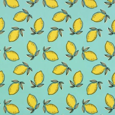 Duck Egg and Yellow Large Lemons PVC Vinyl Wipe Clean Tablecloth