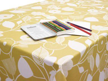 Bergen Ochre Yellow Oilcloth Tablecloth