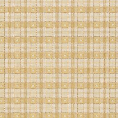 Ochre Yellow Heart Check PVC Vinyl Wipe Clean Tablecloth