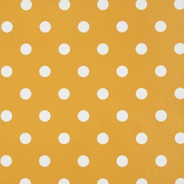 Orange and White Polka Dot PVC Vinyl Wipe Clean Tablecloth