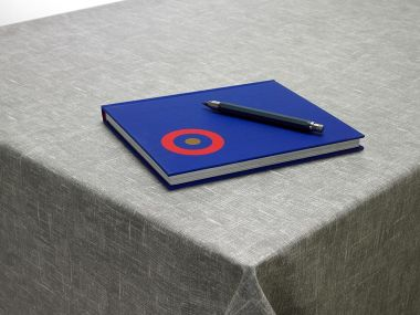 Plain Grey Linen Wipeclean Table Cloth Oil Cloth