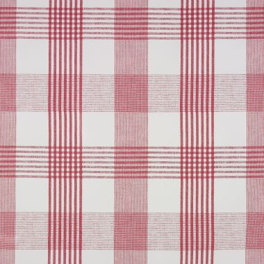 Red Light Check PVC Vinyl Wipe Clean Tablecloth