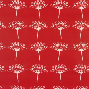 Red Seed Head 100% Cotton Fabric