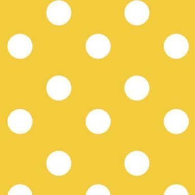 Mustard Yellow and White Polka Dot PVC Vinyl Wipe Clean Tablecloth