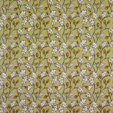 Sage Green Acorns Oilcloth Tablecloth