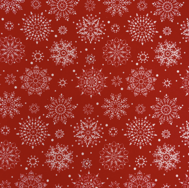 Red Festive Christmas Snowflakes Crafting and Quilting Cotton Fabric