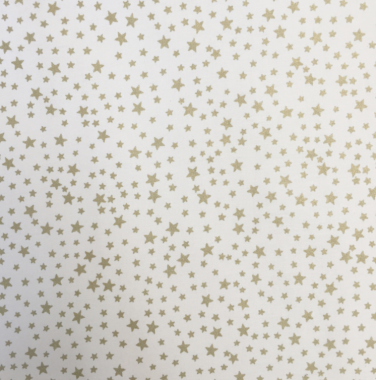 Cream Festive Christmas Stars Crafting and Quilting Cotton Fabric