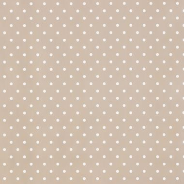 Small Dot Taupe Polka Dot PVC Vinyl Wipe Clean Tablecloth
