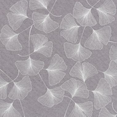 Grey and White Floral Acrylic Wipe Clean Tablecloth