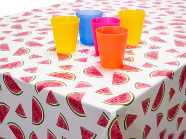 Watermelons PVC Vinyl Wipe Clean Tablecloth