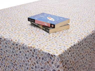 Natural Little Leaves Floral PVC Vinyl Wipe Clean Tablecloth