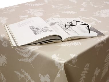 Taupe Moorland Wipe Clean Oilcloth