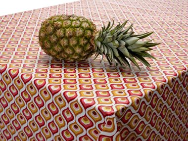 Cerise and Mustard Abstract PVC Vinyl Wipe Clean Tablecloth