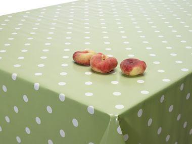 Spotty Sage Green PVC Vinyl Wipe Clean Tablecloth