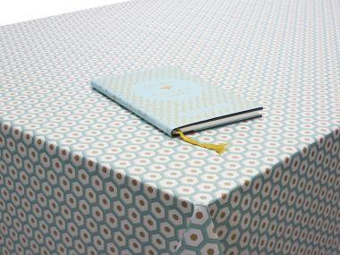 Duck Egg Honeycomb Geometric PVC Vinyl Wipe Clean Tablecloth