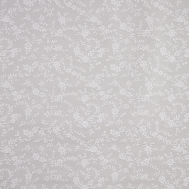 Taupe Floral Trailing Leaves PVC Vinyl Wipe Clean Tablecloth