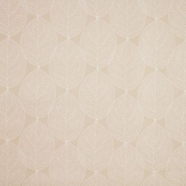 Taupe Large Leaf PVC Vinyl Wipe Clean Tablecloth