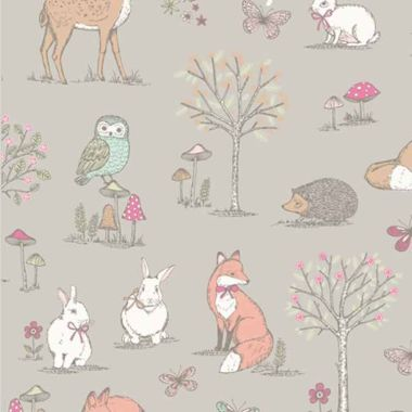 Taupe Woodland Animals ipad/Tablet Cushion Stand Beani