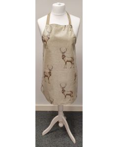 Natural Stags Oilcloth Adult or Child Wipe Clean Aprons