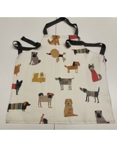 Natural Funky Hound Dogs Oilcloth Wipe Clean Apron Adult and Child