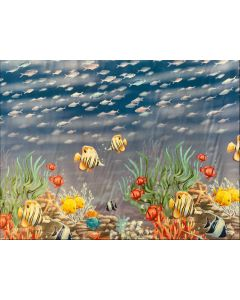 Aquarium Fish PVC Vinyl Wipe Clean Tablecloth