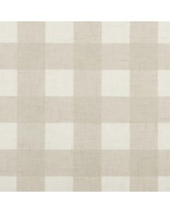 Cream and Taupe Large Gingham Tablecloth