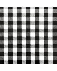 Black and White Gingham PVC Vinyl