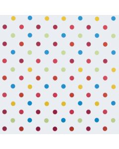 Multi Colour Polka Dot PVC Vinyl Wipe Clean Tablecloth