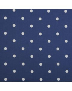 Dotty Denim Blue Polka Dot Curtain and Upholstery Fabric