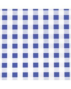 Blue and White Gingham Check PVC Vinyl Tablecloth