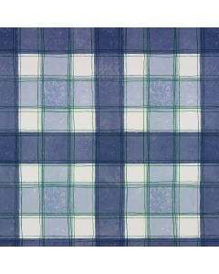 Blue Traditional Check PVC Vinyl Wipe Clean Tablecloth