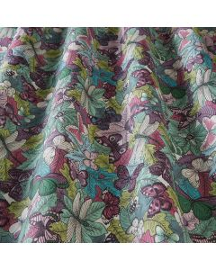 Green Duck Egg Butterflies, Dragonflies and Bees 100% Cotton Curtain Blinds Fabric