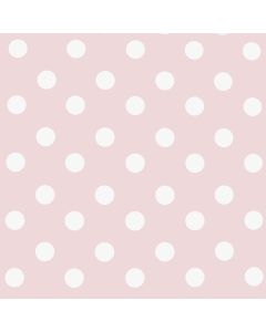 Candy Pink and White Polka Dot PVC Vinyl Tablelcoth