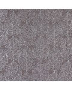 Charcoal Grey and Silver Large Leaf Wipe Clean PVC Vinyl Tablecloth