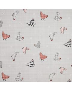 Country Farmhouse Chickens PVC Vinyl Wipe Clean Tablecloth