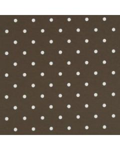 Dotty Chocolate Brown Polka Dot Curtain and Upholstery Fabric