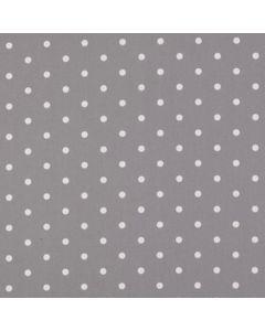 Dotty Smoke Grey Polka Dot Curtain and Upholstery Fabric