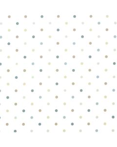 Dotty Taupe Duck Egg Blue Polka Dot Curtain and Upholstery Fabric