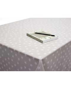 Blue Star Oilcloth Tablecloth Fabric