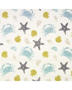 Crabs and Seashells Oilcloth