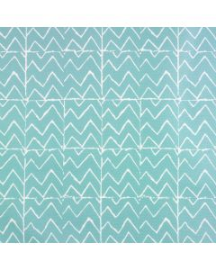 Duck Egg Green Zig Zags Oilcloth