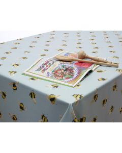Duck Egg Bees Oilcloth Wipe Clean Tablecloth