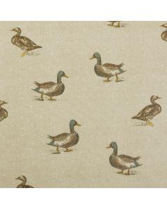 Beige Mallard Ducks Oilcloth Tablecloth