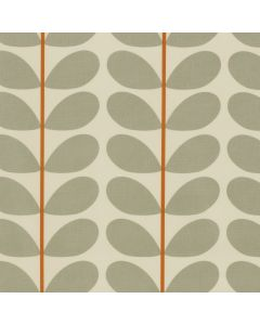 Orla Kiely Multi Stem Two Colour Orange and Cool Grey Wipe Clean Tablecloth