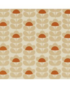 Orla Kiely Sweet Pea Orange Wipe Clean Oilcloth Tablecloth