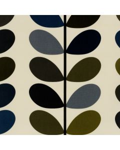 Orla Kiely Multi-Stem Cool Grey Wipe Clean Tablecloth