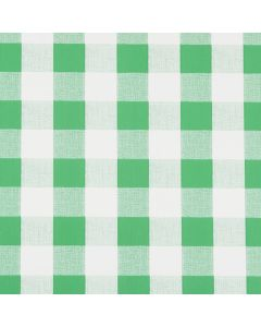 Green and White Gingham PVC Vinyl Wipe Clean Tablecloth