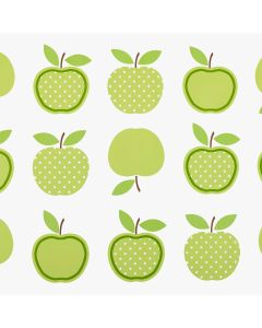 Green Apples Design PVC Vinyl Wipe Clean Tablecloth