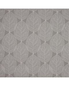 Grey Large Leaf PVC Vinyl Wipe Clean Tablecloth