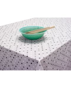 Spotty Grey Black White Dotty Acrylic Wipe Clean Tablecloth